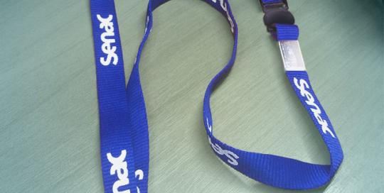Cordão para Crachá Silk Senac
