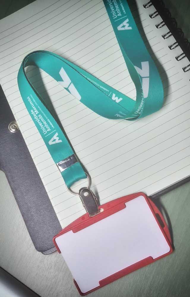 Cordão para Crachá Personalizado Digital Universidade Anhembi Morumbi