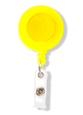 Porta Crachá Retrátil Amarelo