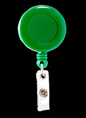 Porta Crachá Retrátil Verde