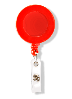Porta Crachá Retrátil Vermelho